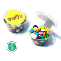Promotional Maxi Chocolate Beanies Eco Pots with campaign artwork