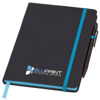Promotional Medium Noir Edge Notebooks with company logos