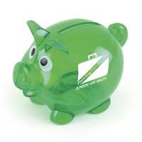 Promotional Mini Translucent Piggy Banks with company logo