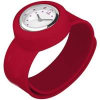 Mini Analog Slap On Watches in Red