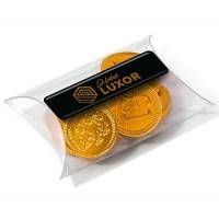 Our Mini Chocolate Coins make great promotional giveaways for Christmas!