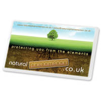 Promotional Mint Cards in White Printed with your Logo in Full Colour from Total Merchandise