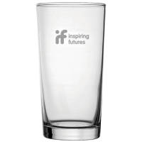 Promotional Conical Straight Pint Glasses Engraved with your Company Logo by Total Merchandise