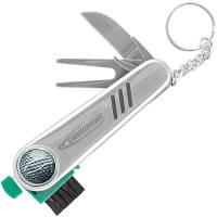 Multifunction Golf Pen Knife in Green/Silver