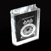 Promotional 100mm Optical Crystal Books for Corporate Gifts