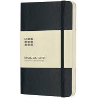 Pocket Moleskine Soft Cover Ruled Notebook in Black