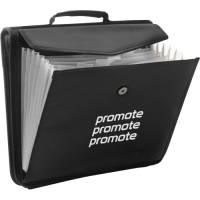 Promotional branded Portfolio Conference Folders in black from Total Merchandise