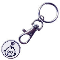 Custom Printed Trolley Coin Token Keyrings with Your Logo from Total Merchandise