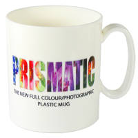 Plastic Prismatic Mugs in White