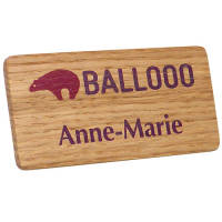 Promotional Real Wood Name Badges for Event Marketing