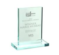 Promotional Rectangular Jade Glass Trophy Awards for Event Gifts