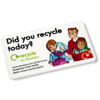Promotional Rectangular Recycled Plastic Magnets for Business Merchandise