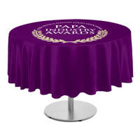 Promotional Round Polyester Tablecloths for Events