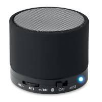 Round Bluetooth Speakers in Black