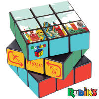 Promotional printed Rubik's Cube with a design printed all over from Total Merchandise