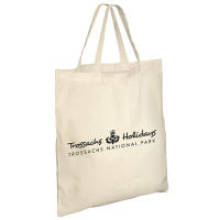 Custom Printed Short Handle Portobello Cotton Bag in Natural from Total Merchandise