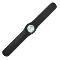 Promotional Silicone Slap Band Watches In Black From Total Merchandise