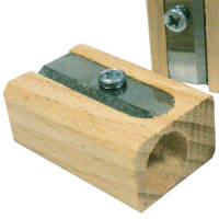 Single Sustainable Wood Pencil Sharpener
