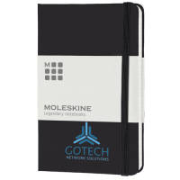 Pocket Moleskine Hardback Ruled Notebook in Black