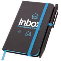 Small Noir Edge Notebooks in Black/Blue