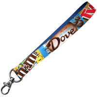 Promotional Smooth Fabric Keyrings with a full colour design printed on 1 side