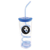 Logo branded Spiro Beaker with Straw printed with a company logo from Total Merchandise