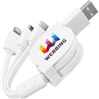 Sprint 3 in 1 Charging Cables in White