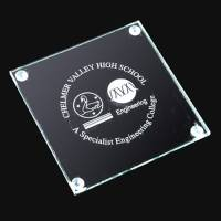 Promotional Square Flat Glass Coasters with Campaign Designs