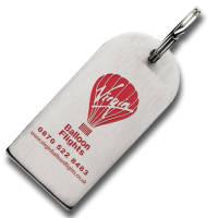 Promotional Large Die Stamped Stainless Steel Keyrings as Staff Merchandise