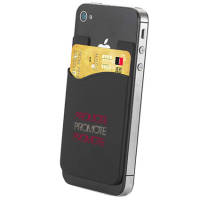 Promotional sticky phone card holders printed with your logo from Total Merchandise