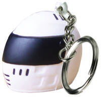 Promotional Stress Crash Helmet Keyrings for Event Sales