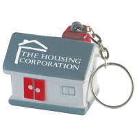 Promotional Stress House Keyring for Marketing Giveaways