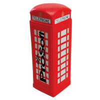 Promotional branded Stress Telephone Box available in red from Total Merchandise