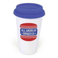 Printed Plastic Take Out Mugs for Business Giveaways
