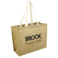 Printed jute shopper bags printed with your logo from Total Merchandise