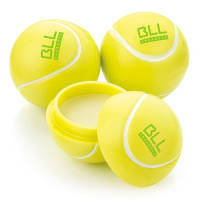 Custom Printed Tennis Ball Lip Balm in White/Yellow with Logo Printed by Total Merchandise