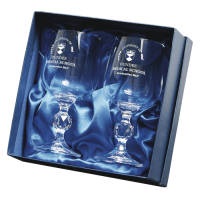 Personalised Traditional Crystal Goblet Sets for Corporate Gifts