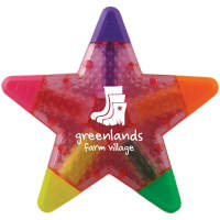 Personalised Translucent Star Highlighters With Campaign Logos