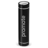 Promotional Tube Power Banks in Black with Printed Logo from Total Merchandise