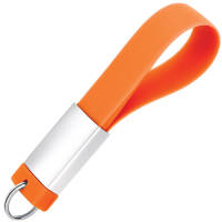 Promotional USB Drive Deluxe Silicon Keyloops In Orange From Total Merchandise