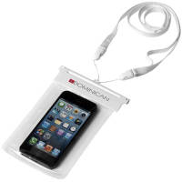 Waterproof Phone Pouches in White/Transparent