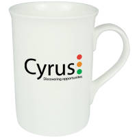 Promotional Windsor Bone China Mugs in white from Total Merchandise
