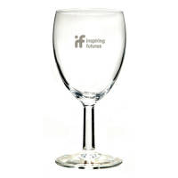 Promotional Wine Glasses Engraved with your Company Logo by Total Merchandise