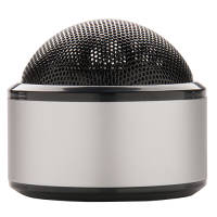 Custom branded Wireless Dome Speakers in Silver from Total Merchandise