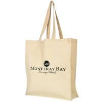 Promotional Wrexham Heavy Weight Shopper Bags in Natural Printed with a Logo by Total Merchandise