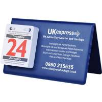 Promotional PVC easel calendars printed with your logo from Total Merchandise