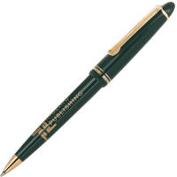 Printed Alpine Gold Trim Ballpen is a traditional cap-action promotional pen with a stylish look