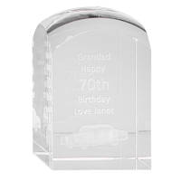 3D Engraved Crystal Domed Towers