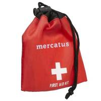Promotional 11 Piece First Aid Kit Bags available in red from Total Merchandise
