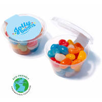 These promotional Maxi Jolly Jelly Bean Eco Pots are filled with delicious jelly beans!